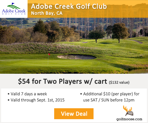Adobe Creek Golf Club Special