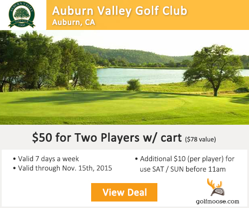 Auburn Valley Golf Club Special