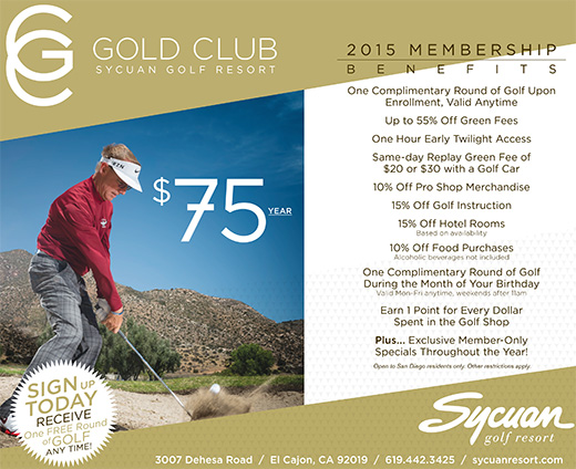 Sycuan Resort Gold Club Card Membership