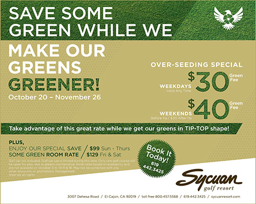 Sycuan Resort Overseeding Special