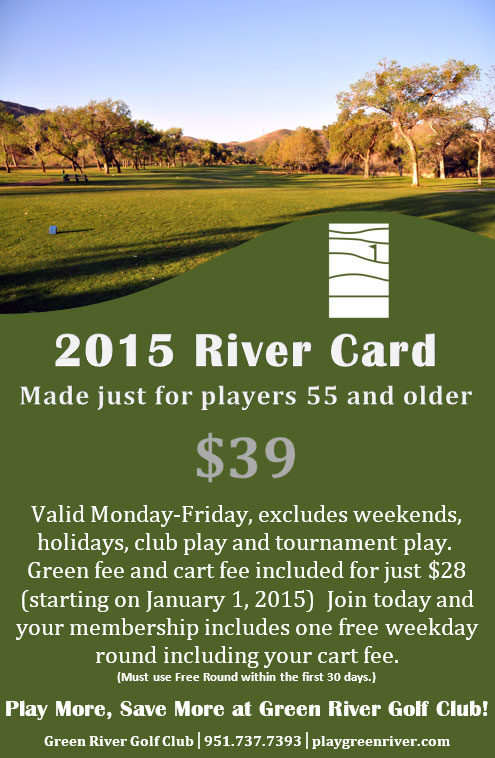 2015 River Discount Card Green River Golf Club