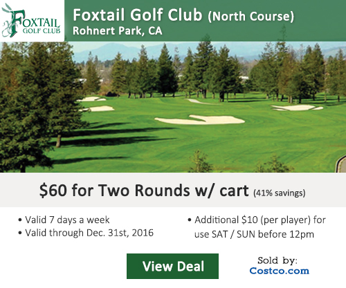Foxtail Golf Course Costco Special