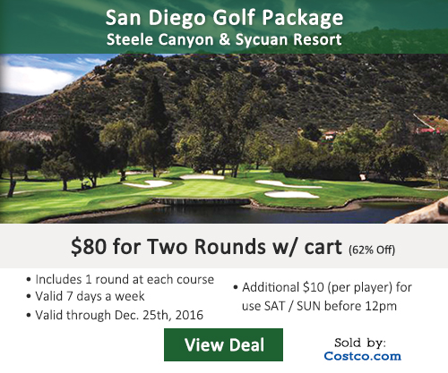 Steele Canyon Golf Club Costco Special