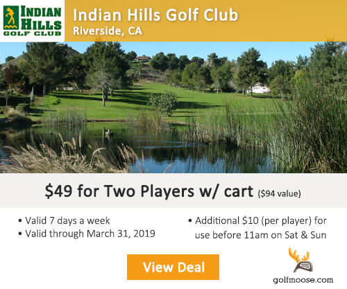 Indian Hills Golf Club Special